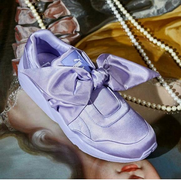 sports shoes e81d7 c2974 New Rihanna Fenty Puma Purple bow sneaker NWT